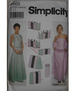 Simplicity 9466 Sewing Pattern Formal Evening Wear Weddings Proms Tops S... - $11.00