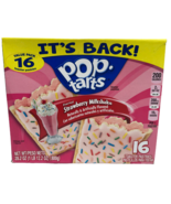 Pop Tarts Strawberry Milkshake 16 Toaster Pastries Value Pack Breakfast ... - $9.74