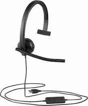 Logitech - H570e - USB Mono Headset with Noise-Cancelling Microphone  - $79.15
