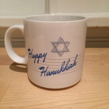 Happy Hanukkah Star of David Jewish Holidays Russ Coffee Mug - $9.50