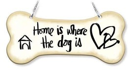 """Home Is Where the Dog Is Sun Catcher Dog Bone AMIA 7"""" Long New Hand Pain... - €17,12 EUR"""