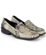 Snake Skin Embossed Leather Loafers Moc Toe Shoes Kenneth Cole Reaction ... - $19.79
