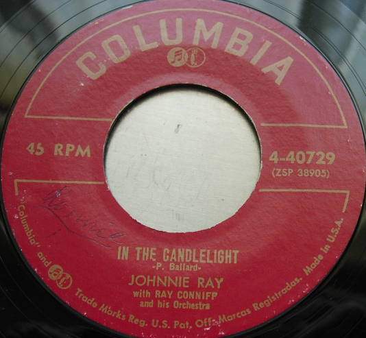 JOHNNIE RAY Just Walking In the Rain / In the Candlelight - Columbia 4-40729