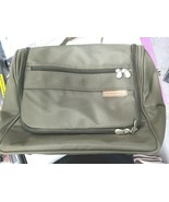 """Briggs & Riley 15"""" Toiletry Kit Hanging Travel Tote Olive Pre Owned - $42.56"""