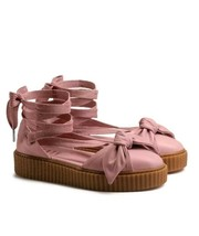 $140 Fenty Puma By Rihanna Women Bow Creeper Sandal Pink (365794-01) Sz 7.5 - $79.20
