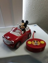 Mickey Mouse Clubhouse Red Roadster Disney RC Car Jada Toys TESTED & WOR... - $22.72