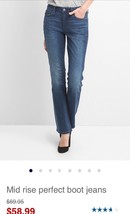 Gap Mid Rise Perfect Boot Jeans: 28 Regular - $29.11