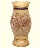 Amber Oak Leaves & Acorns Candle Holder Lamp Li... - $10.95