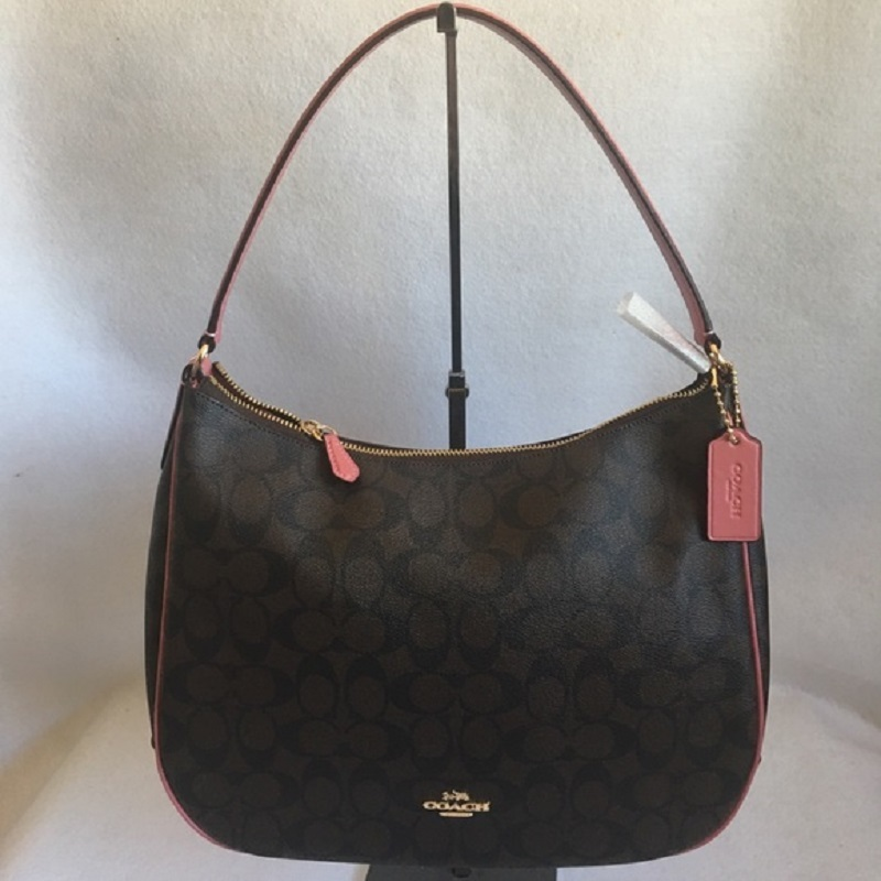 ad7aeba9caedc Coach Signature Brown Canvas Shoulder Bag and 50 similar items. 1