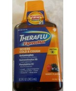 THERAFLU EXPRESSMAX DAY TIME SERVE COLD & COUGH BERRY FLAVOR 8.3 OZ - $10.39