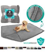 "PetAmi Plush Soft Pet Blanket Waterproof 60""X40"" grey sherpa - $24.69"