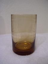 Set of 4: Studio Nova Crystal Park Avenue Grid Honey Double Old Fashioned Glass - $29.95