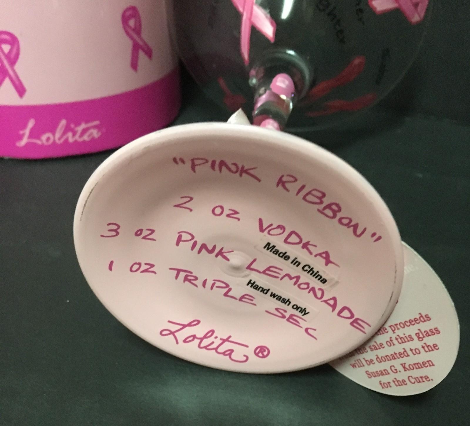 Lolita Love My Martini Glass Cancer Awareness 7 Oz Recipe