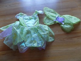 Size 12-18 Months Disney Store Baby Tinkerbell Tink Fairy Costume Dress Wings  - $35.00