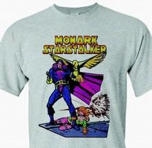 Monark Starstalker T-shirt vintage Bronze Age comics heather grey superhero tee image 2
