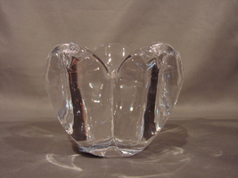 "Celebrations by Mikasa Romantic Bloom Collection 3 "" Crystal Votive Holder NIB image 4"