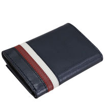Tommy Hilfiger Men's Leather Wallet RFID Protection Trifold Red Navy 31HP110034 image 4