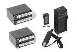 TWO 2 Batteries + Charger BP-945 BP-941 BP-950 BP-950G BP-955 BP-955G for Canon - $62.05