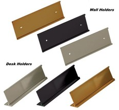 Office Name Plate Holders - Fits Standard Size 2x8, Goes on Wall or Desk... - €10,26 EUR