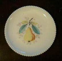 Westmoreland Milk Glass Beaded Edge Fruit Salad Plate 8 Inch Pear - $23.42