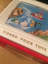 Fisher Price Giant Screen Music Box TV Two Tune/Stories Classic Toy 2009 image 3