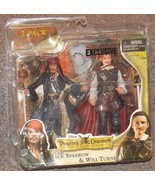 Pirates Of The Caribbean Jack Sparrow & Will Turner 2 Pack Action Figure... - $44.99