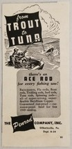 1949 Print Ad Ace Rod Fishing Lures The Penrod Co. Gilbertsville,PA - $9.72