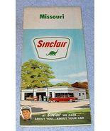 Vintage Sinclair Oil Co Missouri Road Map 1963 - $6.95