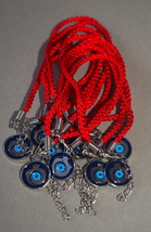 Kabbalah 10 pcs Lot Red String Pomegranate Charm Evil Eye Bracelet Judaica