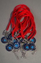 Kabbalah 10 pcs Lot Red String Pomegranate Charm Evil Eye Bracelet Judaica image 1