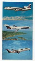 Delta Airlines 3 Airplane Postcard Lockheed 1011 Boeing 727-232 Douglas ... - $17.80