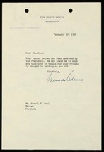 Sherman Adams Autographed Typed Letter Signed TLS Eisenhower Chief of St... - $39.55