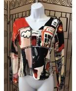 Metrick Women's Sweater Bead Embellished Boutique V Neck Size Med (H4) - $19.79