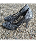 Gianni Bini Silver Scale Open Toe Heels - Size 7 - Worn Once - $26.99