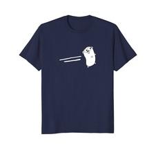 Golang Programming Mascot White Stripes T-Shirt - $17.99+