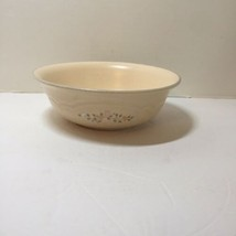 """Round Serving Bowl Pfaltzgraff Remembrance Peach Pink Flowers 7.5"""" - $9.74"""