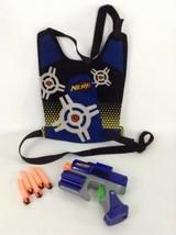 Nerf Gun Dart Tag Blue Team Blaster Pistol with Blue Vest 5 Darts Hasbro - $19.55