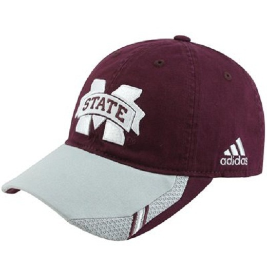 Primary image for  Adidas NCAA College Football Curved Hat Cap Size L/XL MISSISSIPPI State Gray
