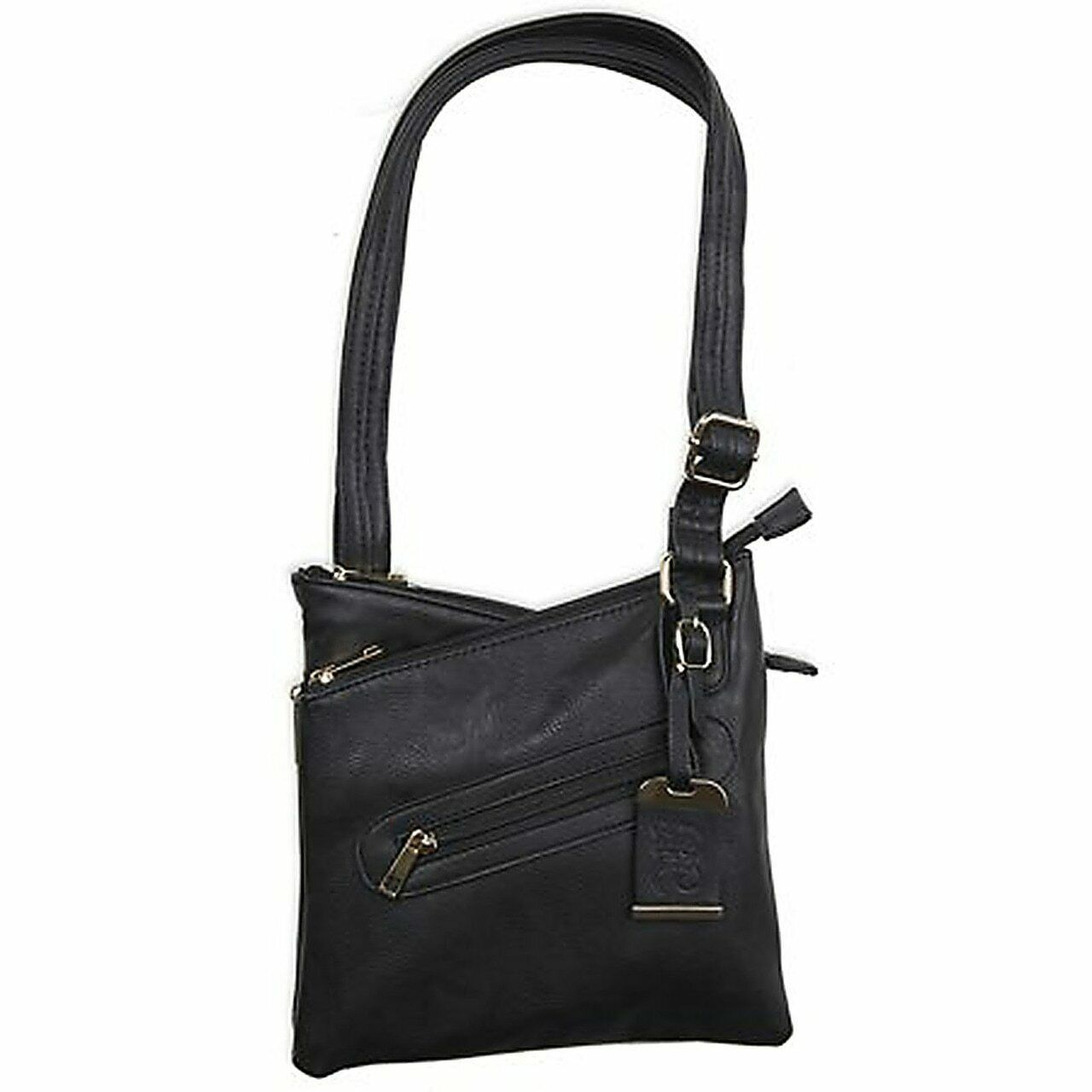 Bulldog Black Crossbody Purse with Concealed Carry Holster BDP-030