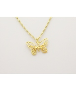 Filigree Butterfly Necklace - $10.00