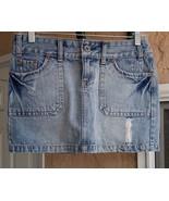 American Eagle Vintage Wash Denim Mini Skirt Size 0 - $11.99