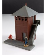 Bachmann Switch Tower Vintage HO Scale Brown Building Built #1 - $12.86