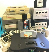 LOT of 7 Nintendo Consoles N64, Super Nintendo, Gamecube, Wii,  - $299.99