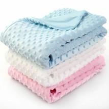 Newborn Baby Blanket Soft Cotton Coral Fleece Dot Floral Star Swaddle 100X75cm