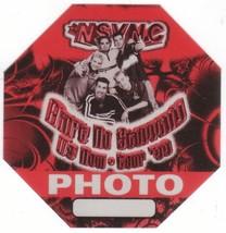 N SYNC n sync backstage Satin Cloth PASS tour collectible PHOTO - $11.39