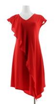 H Halston Petite Jet Set Jersey Mixed Media Midi Dress Crimson PXXS NEW A308898 - $39.58