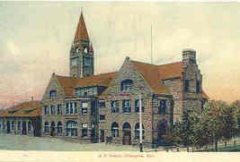 Union Pacific Rail Depot Cheyenne Wyoming Vintage Post Card - $6.00
