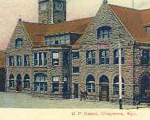 Union Pacific Rail Depot Cheyenne Wyoming Vintage Post Card