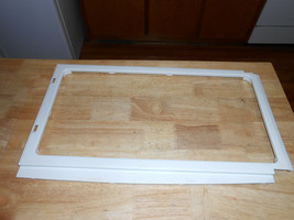 GE General Electric Microwave Oven Inner Door Frame WB55X10863 White    - $14.99