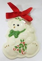 Lenox holiday teddy bear cookie press ornament mold christmas  - $17.82